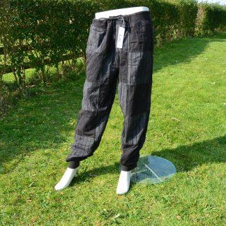 broek van soepel katoen patch bedrukt