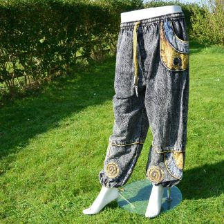 Hippie broek Baggy Spiraal