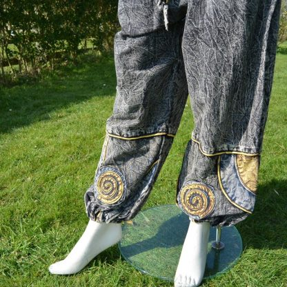 Unisex PSY Baggy Pants Hippie Trousers Cotton Dance Hose Stone Washed