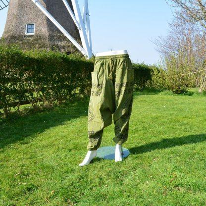 Nepalese broek groen katoen