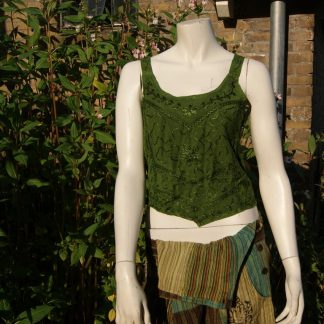 Crop top Tank top groen viscose