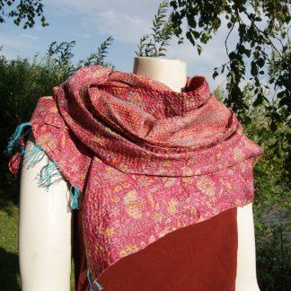 gerecyclede sari's sjaal