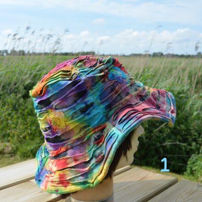 Tie Dye rainbow hoed katoen