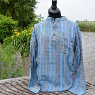 Gestreept opa overhemd XL