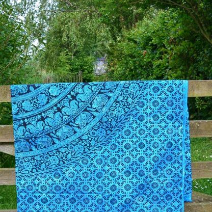 Wandkleed tafelkleed India katoen blauw