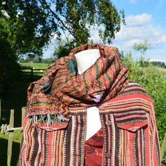 vintage sari sjaal zijde
