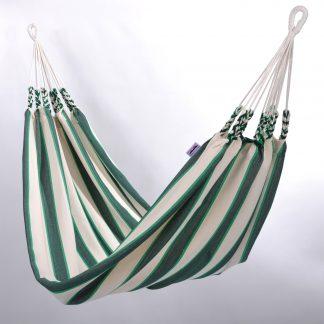 Lommerrijke hangmat groen gestreept groot