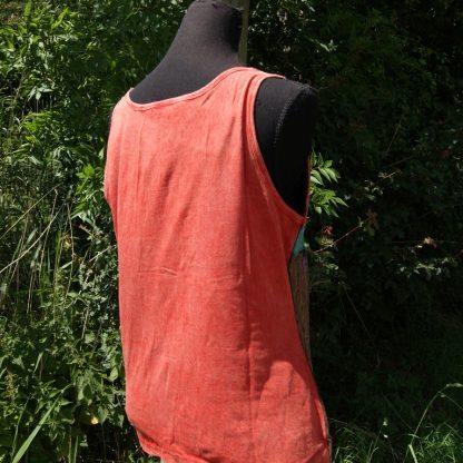 Katoenen hemd met rood