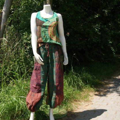 Nepal hemd met veel kleuren en borduursels