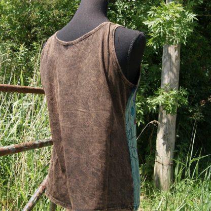 Katoenen hemd met bruin