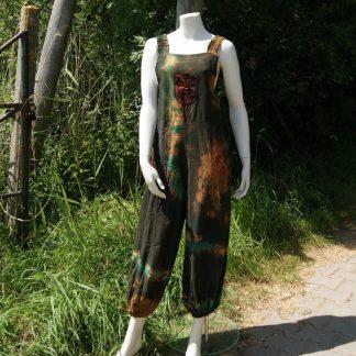 salopette- tuinbroek- patchwork- harembroek- hippie- alternatief- Ibiza- festival