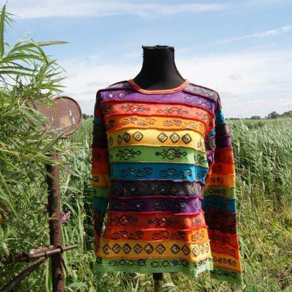 Alternatieve kleding trui Rainbow