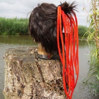 red dream clip-in dreads