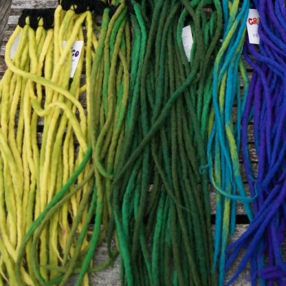 Dreadlocks, many colors