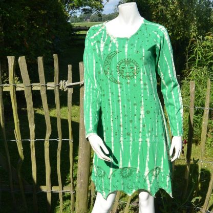 Festival jurk groen lange mouw