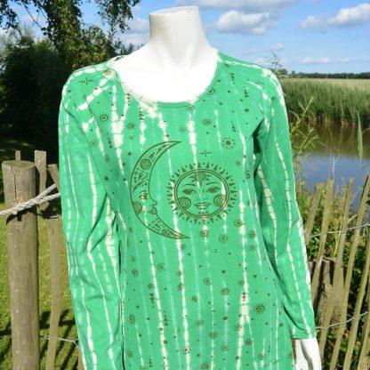 Sportieve Tie Dye jurk met zon en maan