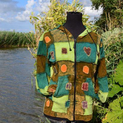 Boho hippie patchwork vest katoen
