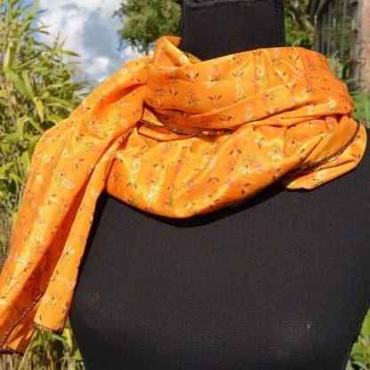 Grote zijden sjaal Sari