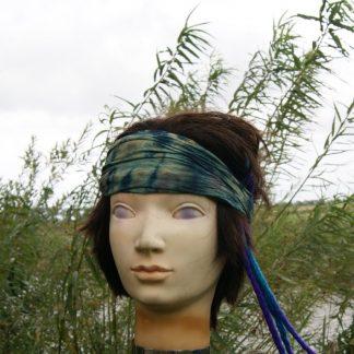 Tie dye haarband blauw