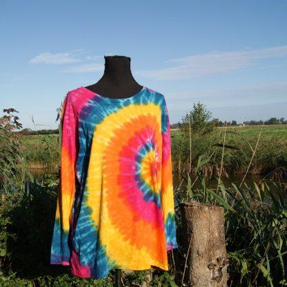 Regenboog Tie Dye shirt Nepal