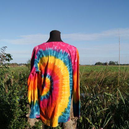 Kleurrijk katoenen shirt met ronde hals en lange mouw