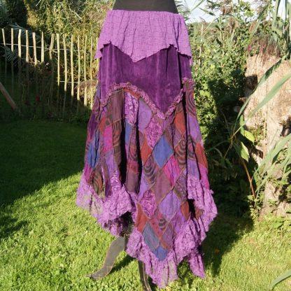 lange zigeuner rok met fluweel