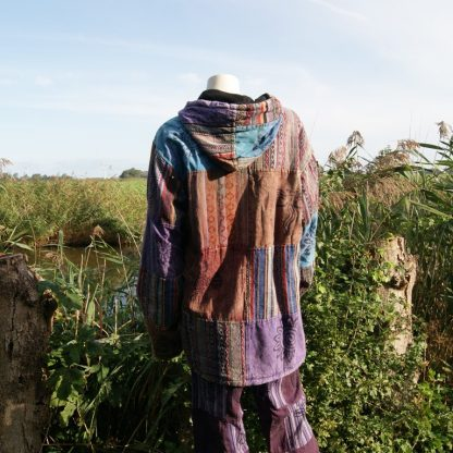 katoenen jas gevoerd met capuchon