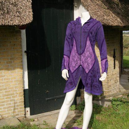 Hippie pixie lang paars vest