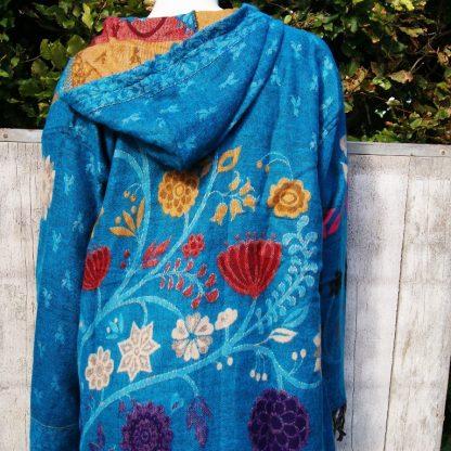 Sjaal als vest aqua blauw