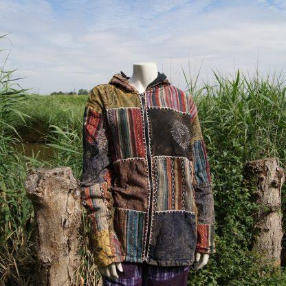 Kleurrijke jas - gevoerd - alternatieve kleding