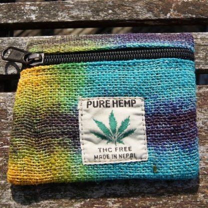 kleurrijke hennep portemonnee