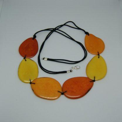 Tagua halsketting eco sieraden