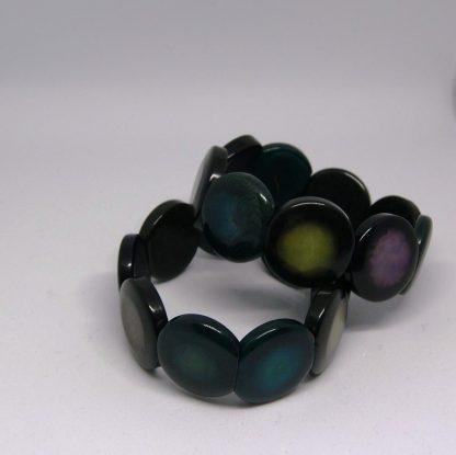 Armband met elastiek zwart