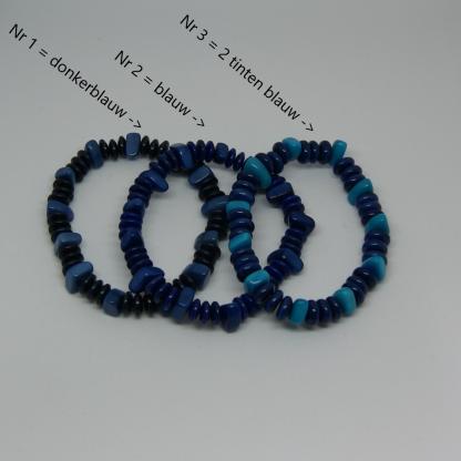 Tagua kralen armbandje blauw