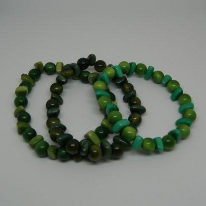 Kleurrijke kralen armbandje groen