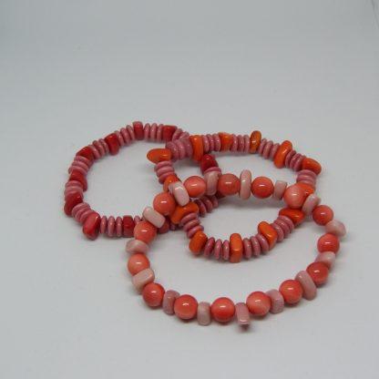 roze Eco-armbandje van duurzaam materiaal