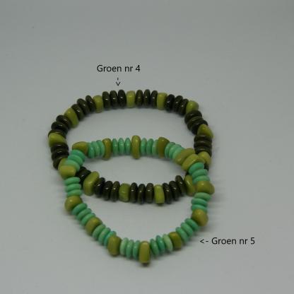 Duurzame armband plantaardig ivoor Tagua