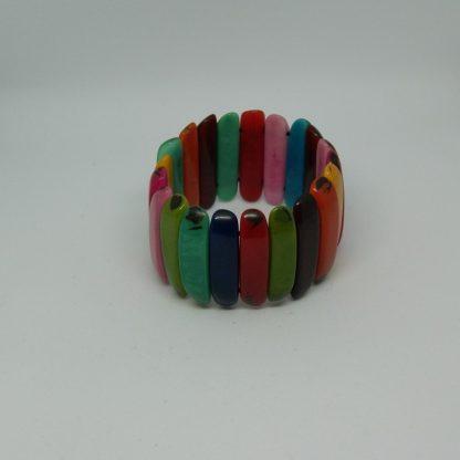 Tagua armband rainbow