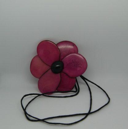 Vegan sieraad - Eco sieraad - Tagua ketting met bloem