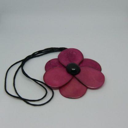 Handgemaakte verstelbare ketting met bloem