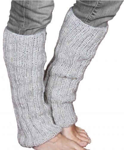 Chamonix - Dikke Wollen Beenwarmers - hand gebreid - 100% wol