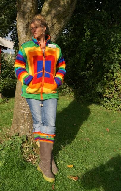 Wollen vest - Regenboog kleuren