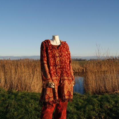 Rood sjaalvest - festival vest