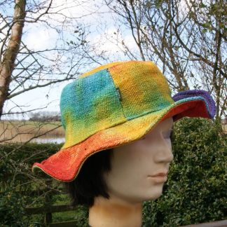 Hennep hoed - Tie-Dye - Rainbow