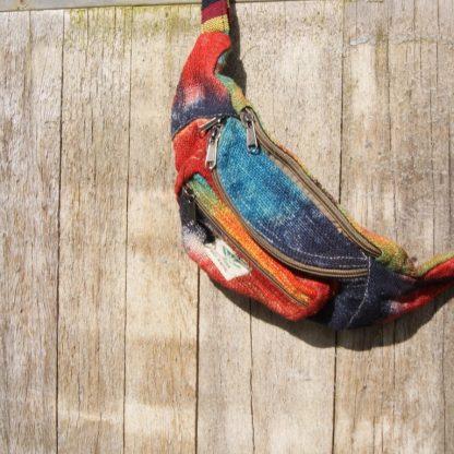 Tie dye hennep heuptas - money belt