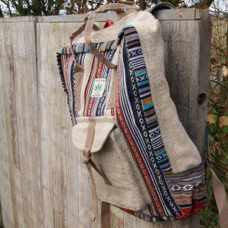 Tas uit Nepal - kleurrijke rugtas - Fair trade rugtas