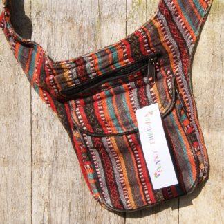 Nepal heup tas met verstelbare riem - rood - Nepal money waist belt