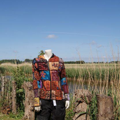 Kleurrijk vest - alternatieve kleding - hippie vest - flower power vest - katoenen vest