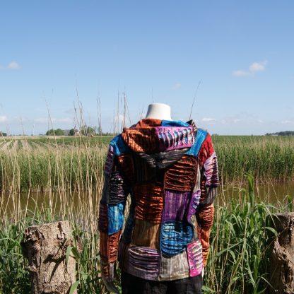 Kleurrijk - katoenen - vest - met capuchon