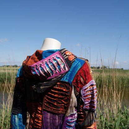 Vest opengewerkt met capuchon - patch - katoen